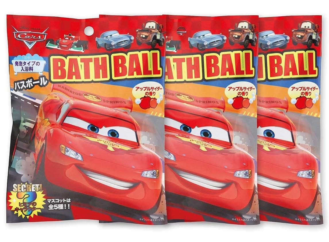 高架フォージ物理学者ディズニー 入浴剤 カーズ バスボール おまけ付き アップルサイダーの香り 60g 3個セット