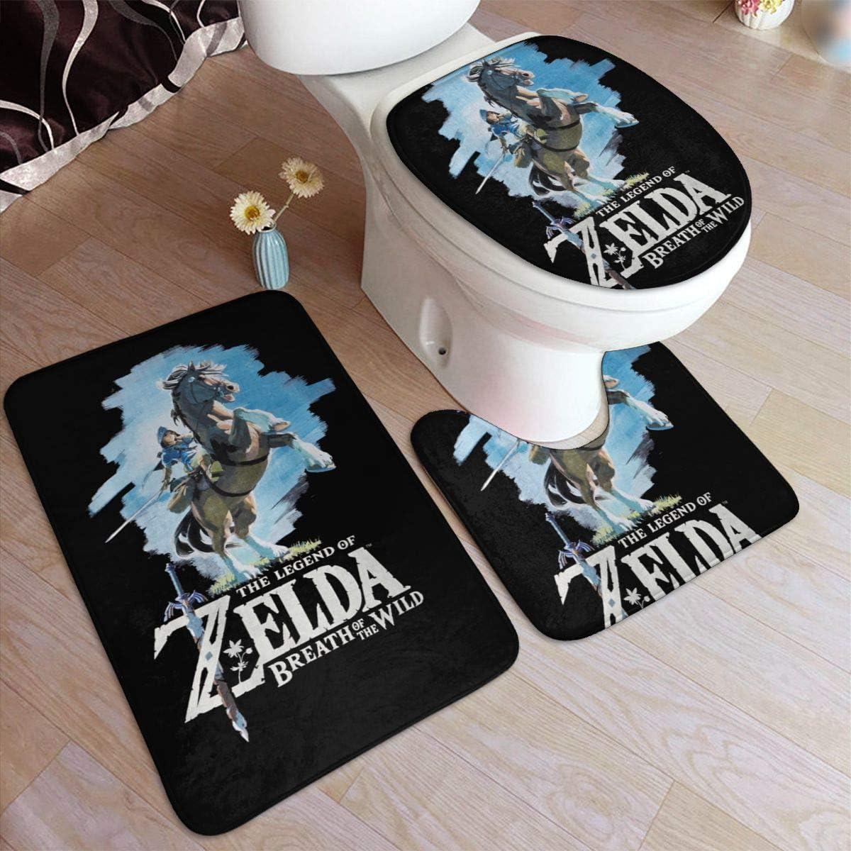 Amazon.com: Legend of Zelda Breath of The Wild9 Piece Bathroom Rug