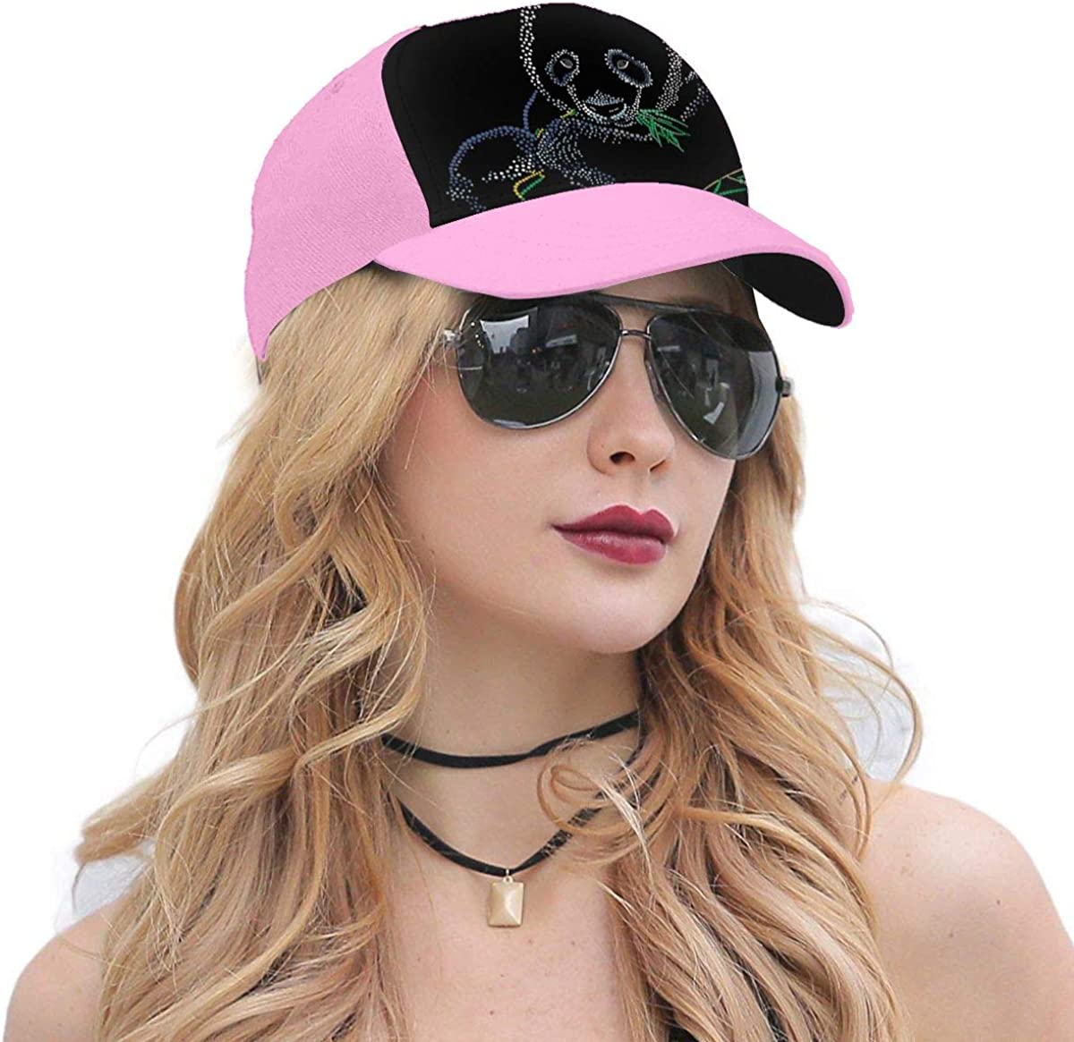 Panda Eating Bamboo Classic Style Baseball Cap All Cotton Made Adjustable Fits Men Women Low Profile Hat