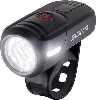 SIGMA SPORT Led-akku-frontleuchte-2022072610 Luz Frontal LED con batería, Unisex Adulto, Negro, Talla única