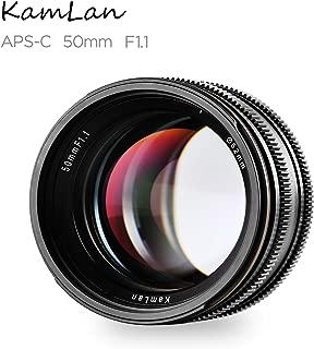 Kamlan 50 mm F1.1 APS-C Large Aperture Manual Fixed Focus Lens, Standard Prime Lens