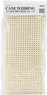 Commonwealth Basket Cane Webbing 1/2-Inch Fine Open Mesh 18-Inch by 18-Inch, Natural