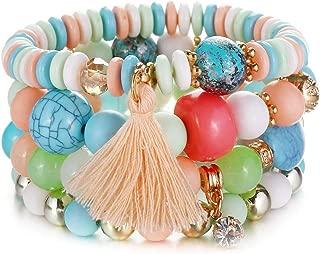 Crystal Bead Vintage Bracelet Female Jewelry Tassel Natural Stone Wristband