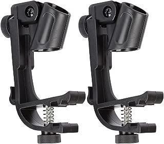 2 PCS Drum Adjustable Microphone Holder Drum Microphone Clips Drum Hoop Rim Mount Shock Mount Gear Studio
