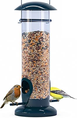 Nibble Weather Proof Anti-Bacterial Bird Feeder with UV Sun-proof Anti-Bacterial Coating. Durable and Disassembles for Quick, Easy Cleaning