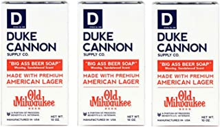 Duke Cannon Big Ass Beer Soap for Men, 10 Ounce (3 Pack)