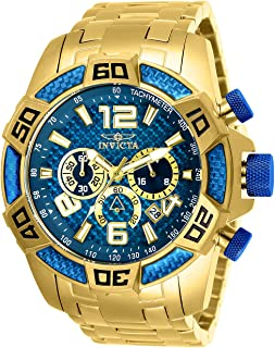 Invicta Men's Pro Diver Scuba 50mm Gold Tone Stainless Steel Chronograph Quartz Watch, Gold (Model: 25852)