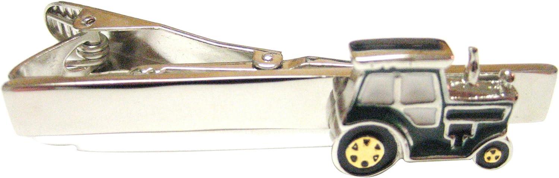 Kiola Designs Green Classic Farm Tractor Tie Clip
