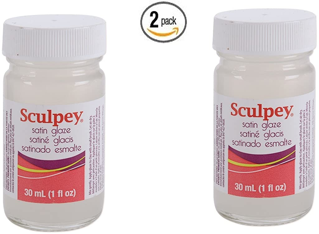 Polyform Sculpey Glaze, 1-Ounce, Satin (2)