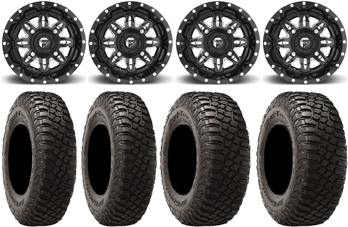 Bundle - 9 Items: Fuel Lethal Black Tires Now free shipping KM3 14