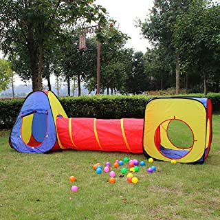 Kid Play Tent Crawl Tunnel Ball Pit Indoor Outdoor Children Playhouse Boys Girls Prince Princess Playroom Castle