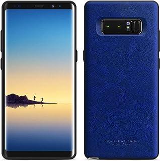 Samsung Galaxy Note 8 Tridea Anti-Shock PU case Cover - Navy