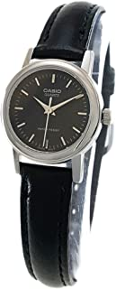 Casio Women's Black Dial Leather Band Watch - LTP-1095E-1ADF