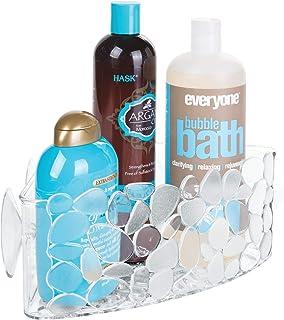 iDesign panier de rangement d'angle, petit valet de douche en plastique avec trous pour évacuer l'eau, panier de bain à ve...
