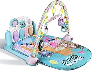 YISSVIC Tapis d'Éveil Bébé et de Jeux Tapis d'Éveil Musical Piano avec Arches pour Bébé de 0 à 36 Mois Contient 5 Jouets S...