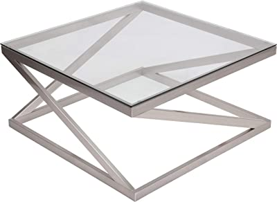 coylin glass top square coffee table