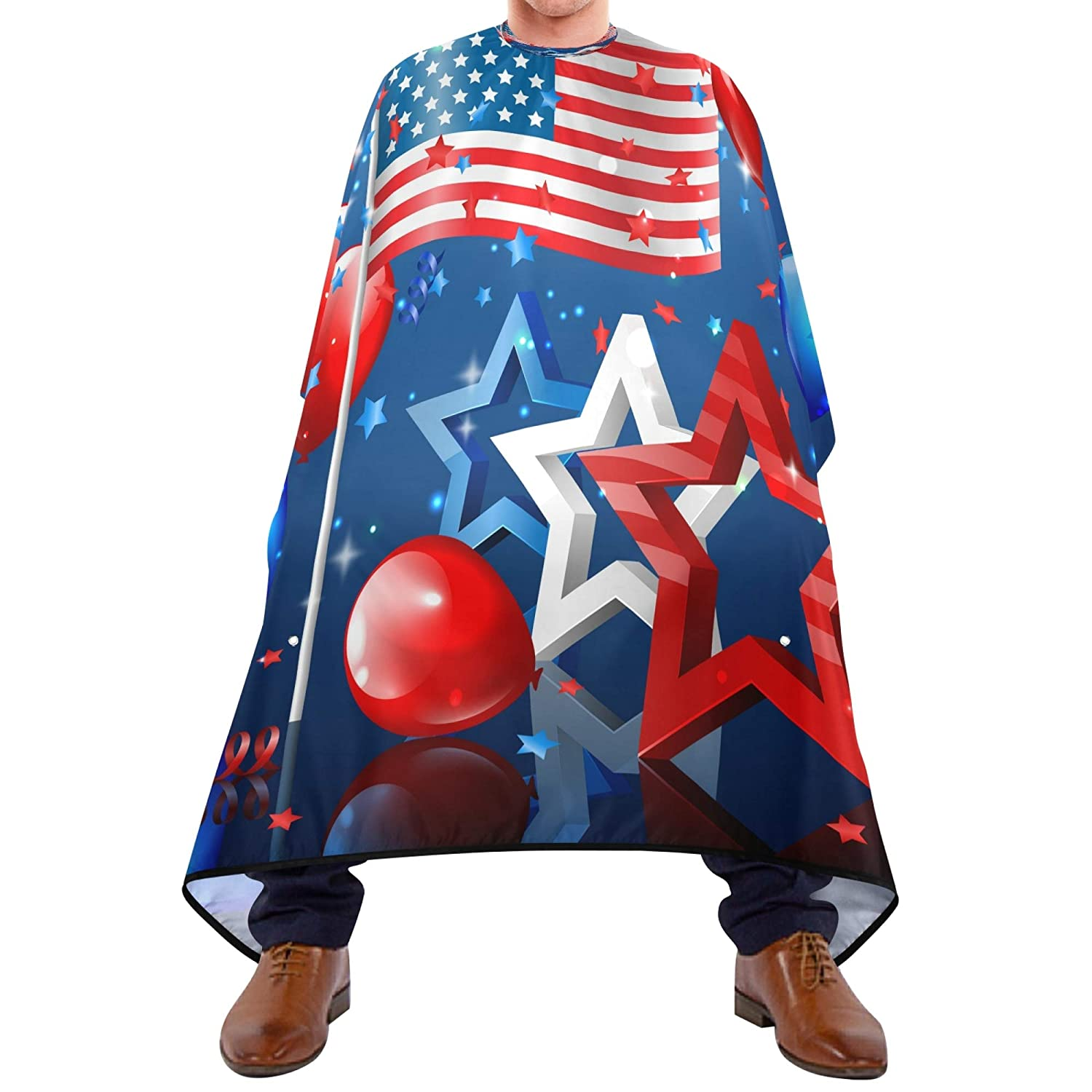 Nation NEW Flag Stars Confetti And Balloons Denver Mall for Barber and Cape Men
