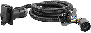 CURT 56070 7-Foot Vehicle-Side Truck Bed 7-Pin Trailer Wiring Harness Extension, Select Chevrolet, Dodge, Ford, GMC, Nissan, Ram, Toyota