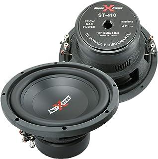 $79 » 2X SoundXtreme Premium Elite ST-410 10 Inch Car Audio Subwoofer 3000 Watts Max Power Dual 4 Ohm Voice Coil High Power Bass...