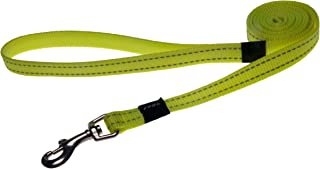 "Reflective Dog Leash for Medium Dogs, 5/8"" wide, 6' long, Yellow"