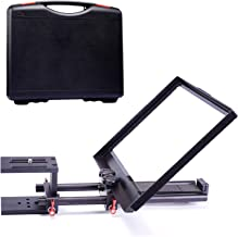 Professional Portable Teleprompter Kit for Live/Online Video Production with Free Suitcase, Universal for DSLR Video Camera Camcorder | Smartphone | Tablet