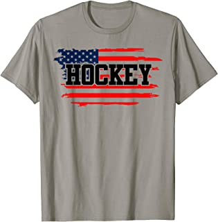 Ice Hockey pride American Flag stripes Gift for men women T-Shirt