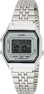 Casio Womens Watch, Digital Display and Stainless Steel Strap- LA680WA-7DF