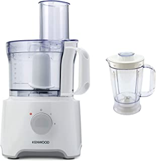 Kenwood Multipro Compact Food Processor 800W FDP301WH White/Clear