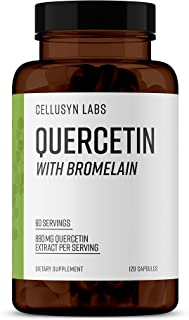 Cellusyn Labs Quercetin 880mg with Bromelain 165mg - 60 Servings, 120 Veggie Capsules