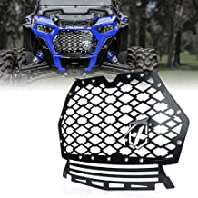 RZR 4 800 Samlight Black Steel Mesh Grille Stainless with 13 inch 60W Combo Beam Single Led Light Bar and Wiring Harness for Polaris RZR 800 RZR S 800 RZR 570 2011 2012 2013 2014