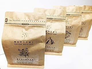 Fresh Roasted Coffee Sampler Variety Pack - 100% Arabica Roasted Coffee Beans - ETHIOPIA, GUATEMALA, COSTA RICA, COLOMBIA (FOUR - 8oz. Bags of Single Origin Coffee - 2LBS TOTAL)