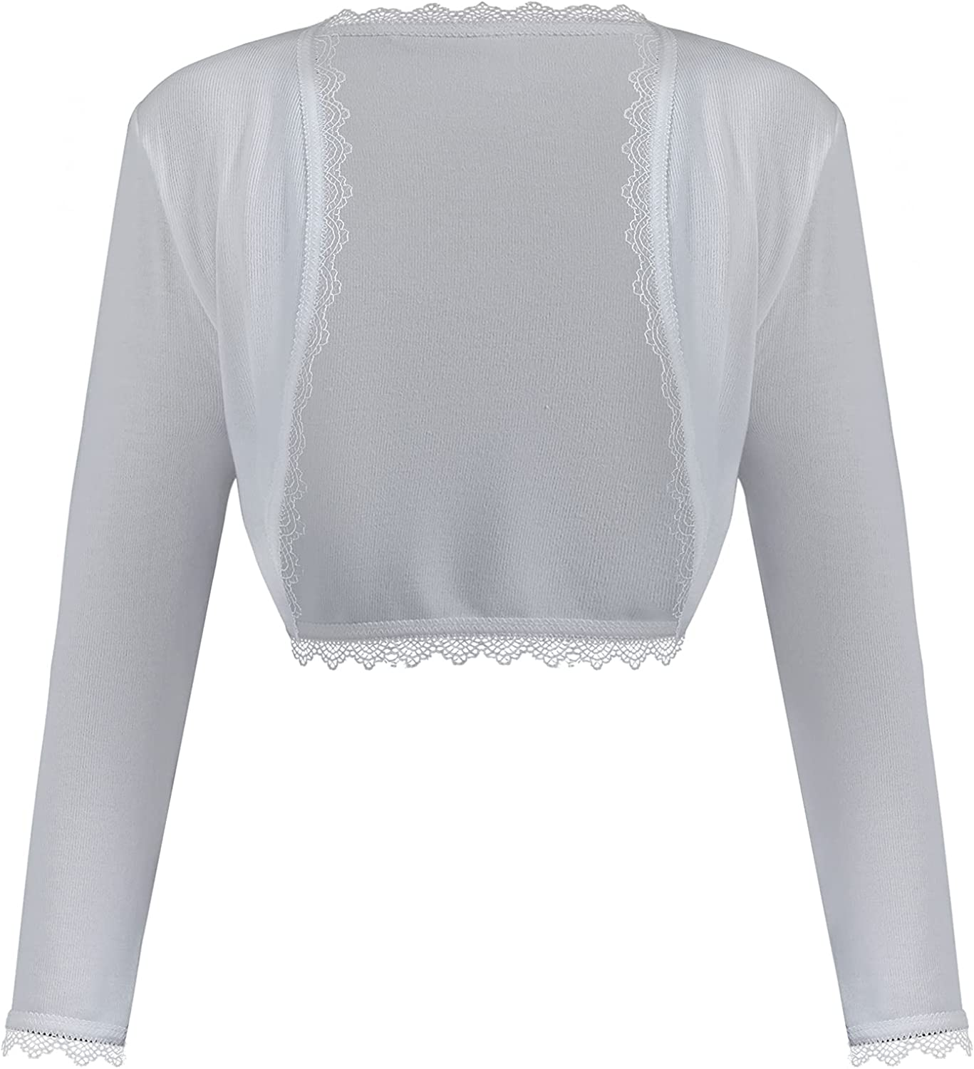 MAIYIGUFS Women's Retro Short Slim Lace Stitching Long Sleeve Cropped Cardigan Knitted Sweater