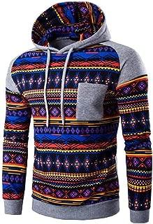 Long Sleeve Fall Winter Pullover Tribal Aztec Print Hoodie