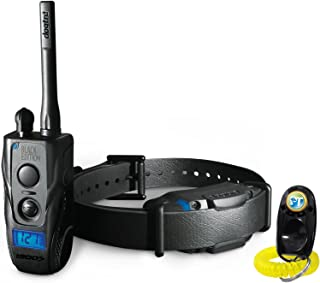 Dogtra 1900S Black Edition Remote Training Collar - 1 Mile Range, Waterproof, Rechargeable, Shock, Vibration - Includes PetsTEK Dog Training Clicker