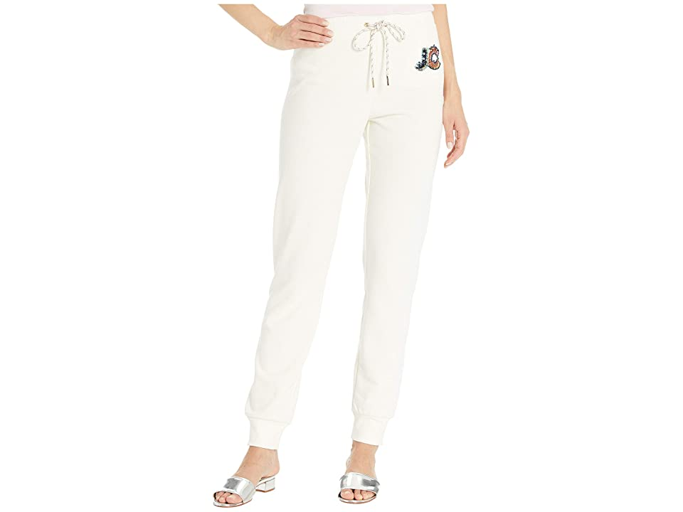 Juicy Couture Multi Sequin Juicy Ft Logo Track Zuma Pants (Angel) Women's Casual Pants