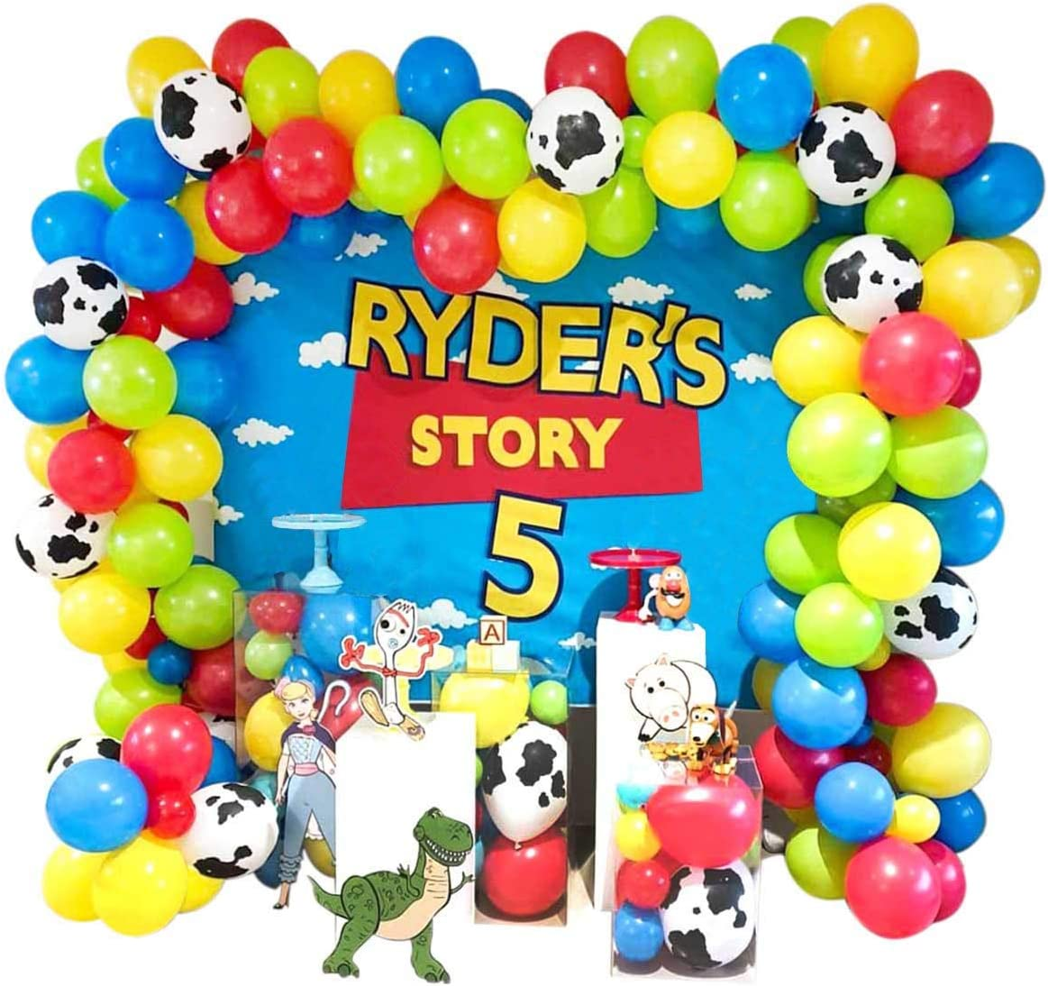 Heboland Toy Story Balloon Garland Arch Kit 110Pcs Cow Printed R