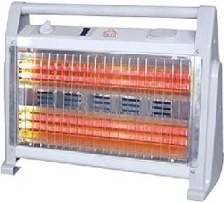 DCG Eltronic SA9524 - Calefactor (Calentador de cuarzo, Piso, Blanco, Giratorio, 1600 W, 800 W)