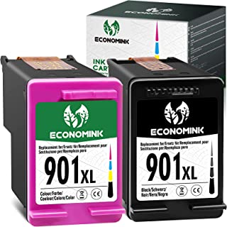 Economink Remanufactured 901 Ink Cartridge Replacement for HP 901XL 901 XL Combo Pack use in OfficeJet J4680 J4550 4500 J4...