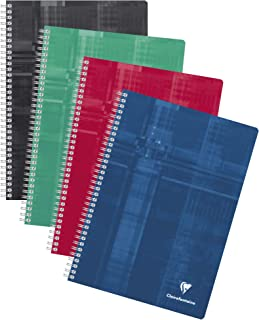 Clairefontaine 68161C Wire bound Notebooks, A4, Séyès, 90 g, 90 Sheets - Assorted Colours