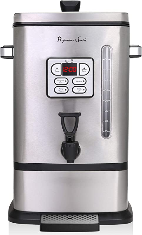 Continental Electric PS SQ018 Professional Coffee Urn 50 Cup Stainless Steel
