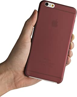 iPhone 6 Plus Case, iPhone 6s Plus Case, Thinnest Cover Premium Ultra Thin Light Slim Minimal Anti-Scratch Protective - for Apple iPhone 6 Plus 5.5 inch | totallee The Scarf (Burgundy Red)