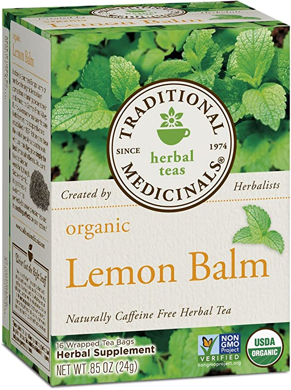 Traditional Medicinals Organic Lemon Balm Tea 16 Tea Bags Pack Of1