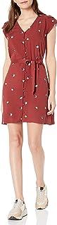 Goodthreads Amazon Brand Women's Fluid Twill Tulip Sleeve Tie-Waist Dress