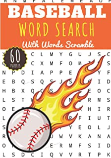 Baseball Word Search: 60 puzzles | Challenging Puzzle Brain book For Adults and Kids | More than 400 words about Baseball ...