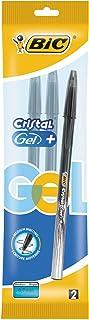 Bic Medium Cristal Rollerball Pen Gel Black twin pack (2pens)