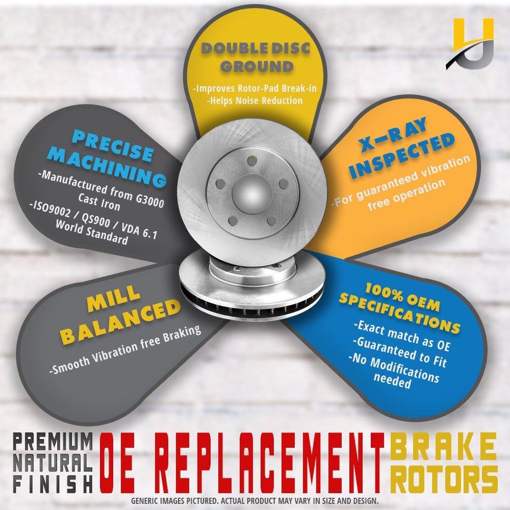 FRONT+REAR KIT Reliance *OE REPLACEMENT* Brake Rotors *Plus Ceramic Pads C1293