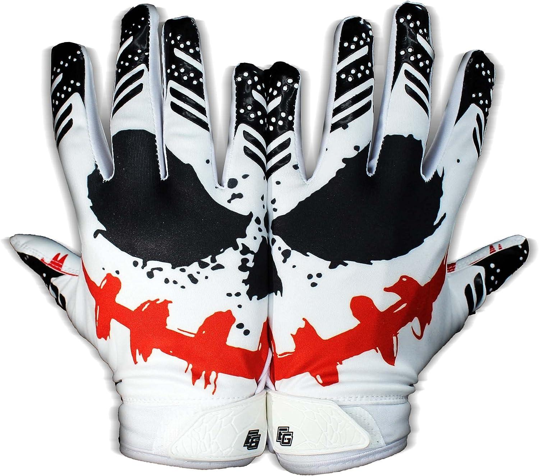 Eternity Gears - Jester Football Gloves - Tacky Grip Skin Tight Adult Football Gloves - Enhanced Performance Football Gloves Men - Pro Elite Super Sticky Receiver Football Gloves - Adult Sizes : Sports & Outdoors