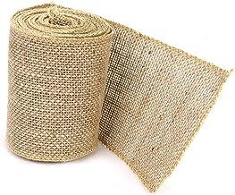 PIXNOR M Hessian Jute Craft Ribbon Brown
