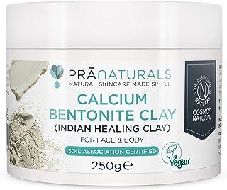 PraNaturals Bentonite Clay Mask, natuurlijk, poriediep Montmorilloniet calcium-actieve tonmaskerpoeder, detox-anti-aging e...