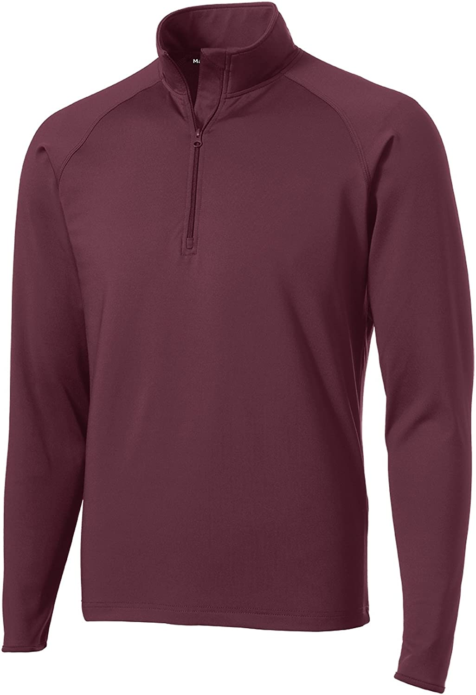 Mafoose Men's Sport Wick Stretch 1/2 Zip Pullover Maroon M